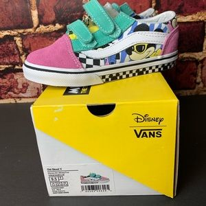 VANS Old Skool V Disney 80's Mickey Toddler NEW